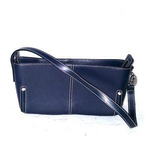 Lamarthe Paris leather bag navy like new satchel